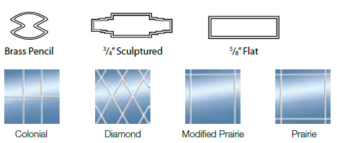 Glass Windows - Grille Options